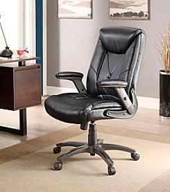Whalen Furniture Chelsen Button Leather Managers Chair