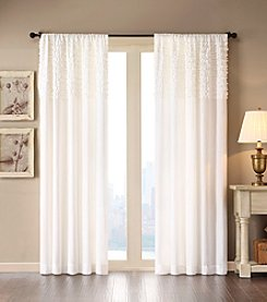 Madison Park® Bessie Horizontal Ruffle White Curtain Panel