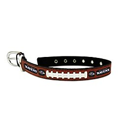 GameWear™ NFL® Baltimore Ravens Classic Leather Football Pet Collar
