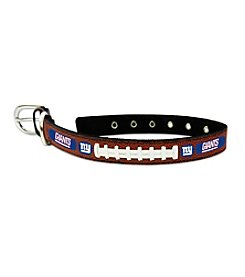 NFL® New York Giants GameWear™ Classic Leather Football Pet Collar