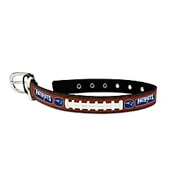 New England Patriots GameWear™ Classic Leather Football Pet Collar