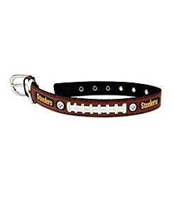 Pittsburgh Steelers GameWear™ Classic Leather Football Pet Collar