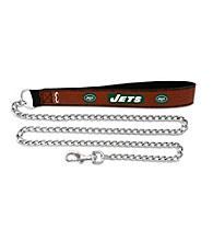 New York Jets GameWear™ Football Leather Chain Pet Leash