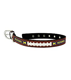 University of Michigan Wolverines GameWear™ Classic Leather Pet Collar
