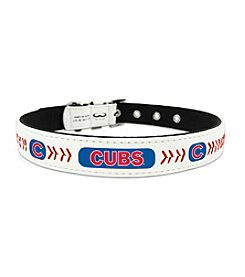 MLB® Chicago Cubs Classic Leather Baseball Pet Collar