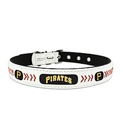 MLB® Pittsburgh Pirates Classic Leather Baseball Pet Collar