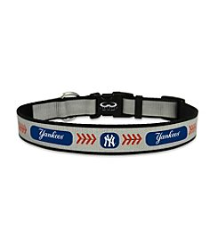 MLB® New York Yankees Reflective Baseball Pet Collar