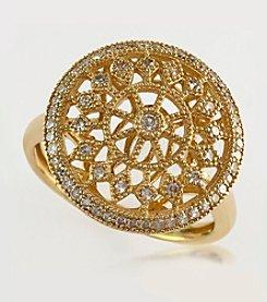 Effy® 0.32 ct. t.w. Diamond Drop Ring in 14K Yellow Gold