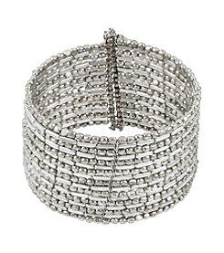Kenneth Cole® Silvertone Seed Bead Coil Bracelet