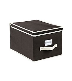 Simplify Black Storage Box with Cream Trim