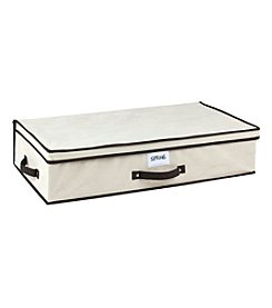 Simplify Cream Under-The-Bed Storage Box with Black Trim