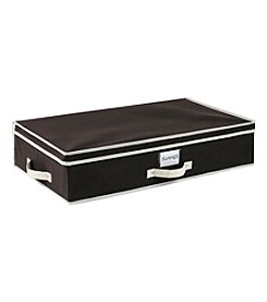 Simplify Black Under-The-Bed Storage Box with Cream Trim