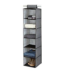 Simplify Gray 6-Shelf Hanging Sweater Organizer