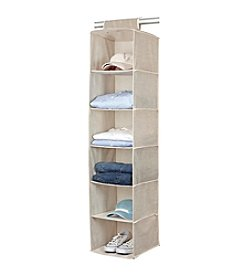 Simplify Burlap 6-Shelf Hanging Sweater Organizer