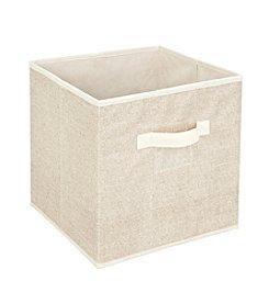 Simplify Burlap Storage Cube