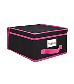 Simplify Black Storage Box with Fuchsia Trim