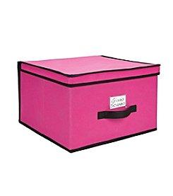 Simplify Fuchsia Storage Box with Black Trim