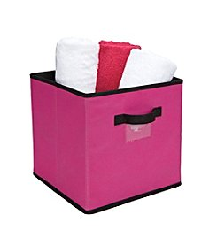 Simplify Fuchsia Storage Box with Black Trim