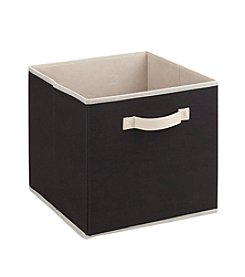 Simplify Black Storage Cube with Cream Trim