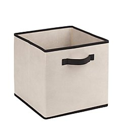Simplify Cream Storage Box with Black Trim