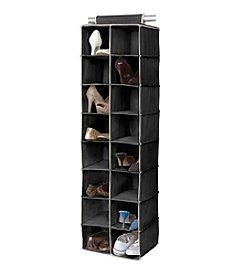 Simplify Black 16-Shelf Hanging Closet Organizer with Cream Trim