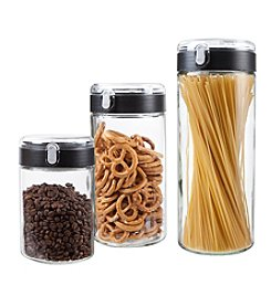 Artland Set of Three Flip-Top Canisters