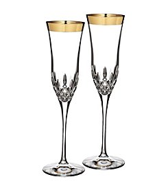 Waterford® Lismore Essence Gold Set of 2 Champagne Flutes