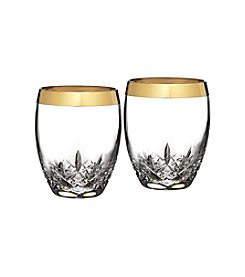 Waterford® Lismore Essence Gold Set of 2 Double Old Fashioned Glasses