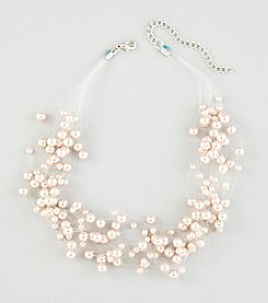 Studio Works® Pearl Pink Illusion Necklace
