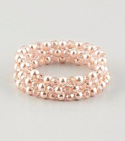 Studio Works® Pearl Pink Strech Bracelet