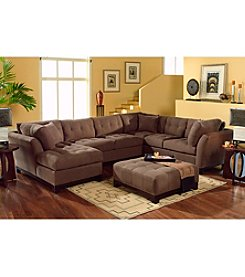HM Richards Espresso Beckham 3-pc. Sectional with Chaise Lounge