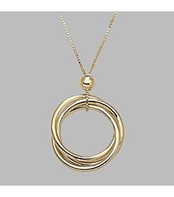 14K Yellow Gold Three Polished Interlocking Circles 17