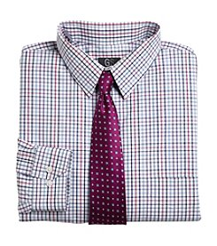 Gold Series™ Men's Berry Big & Tall Long Sleeve Check Poplin Dress Shirt