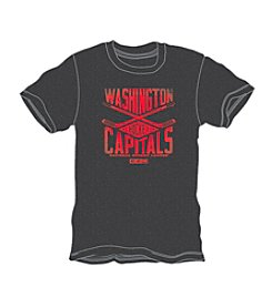 NHL® Men's Big & Tall Washington Capitals Short Sleeve Cross Heather Tee