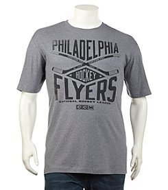 NHL® Men's Big & Tall Philadelphia Flyers Short Sleeve Cross Heather Tee