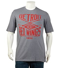 NHL® Men's Big & Tall Detroit Red Wings Short Sleeve Cross Heather Tee