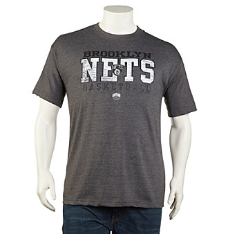 NBA® Men's Charcoal Big & Tall New Jersey Nets Short Sleeve Team Graphic Tee