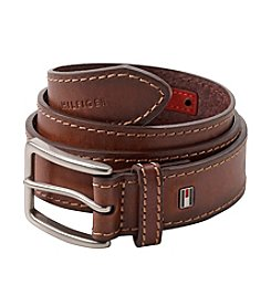 Tommy Hilfiger® Men's Tan Heavy Stitch Leather Belt
