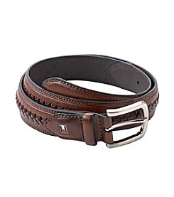 Tommy Hilfiger® Men's Brown Lace Center Leather Belt