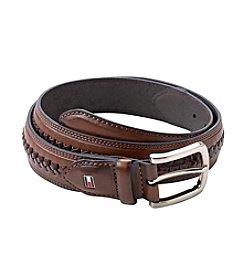 Tommy Hilfiger® Men's Brown Lace Center Leather Belt