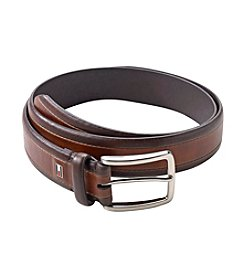 Tommy Hilfiger® Men's Brown 2-Tone Leather Dress Belt