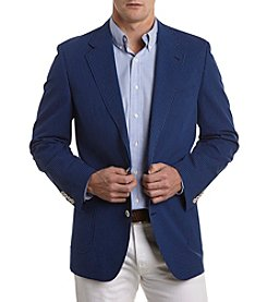 Tallia Orange Men's Blue Big & Tall Seersucker Sport Coat