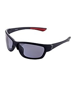 Paradise Collection® Men's Black Rubberized Blade Sunglasses