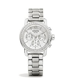 COACH CLASSIC SIGNATURE STAINLESS STEEL WATCH