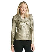 Jones New York Signature® Metallic Moto Jacket