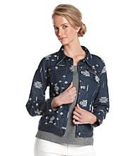 Laura Ashley® Embroidered Denim Jacket