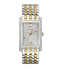 Caravelle® by Bulova Women's Two Tone Rectangle Crystal Watch