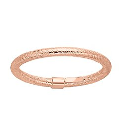 14K Rose Gold 2mm Textured Band Ring