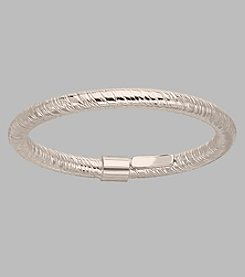 14K White Gold 2mm Textured Band Ring