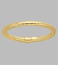 14K Yellow Gold 2mm Textured Band Ring